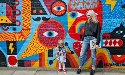 """Anna Whitehouse, aka Mother Pukka, photographed with daughter Mae """"The Urchin"""" in Shoreditch."""