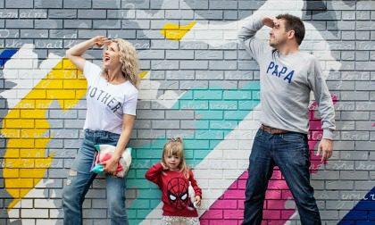 Anna Whitehouse, aka Mother Pukka and Matt Farquarson, aka Papa Pukka, with daughter Mae.