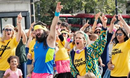 Flex Appeal flash dance at Trafalgar Square, organised by Anna Whitehouse aka Mother Pukka.